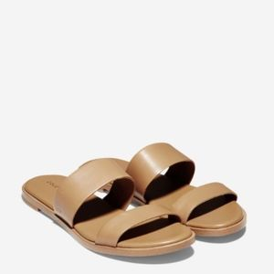 NEW! $130 Cole Haan Findra II Pecan Leather Sandal